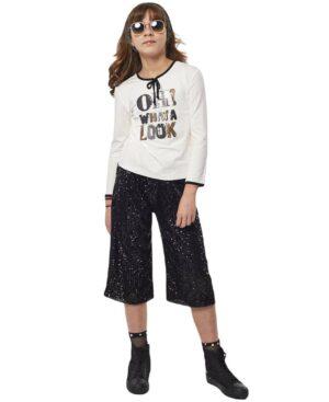 Σετ με μπλούζα και παντελόνα με παγιέτες 215091 EBITA