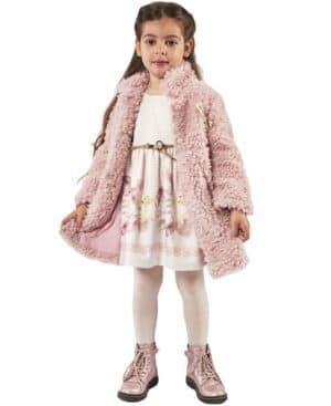 Σετ παλτό και κοντομάνικο εμπριμέ φόρεμα EBITA 215242