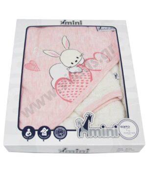 Βρεφικό μπουρνούζι - πετσέτα και λαβέτα MI-008 mini EBITA
