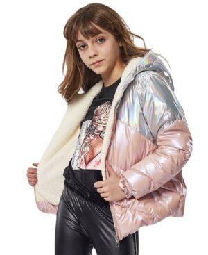 Τζάκετ ροζ ασημί ΕΒΙΤΑ 215037 για κορίτσια